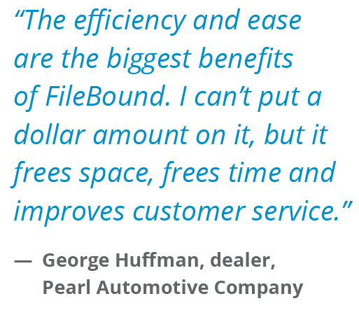 Automotive Testimonial FileBound